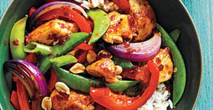 poulet asiatique parfumé sambal oelek